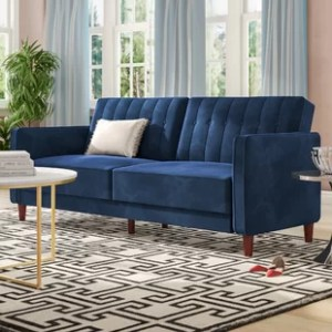 Sofas   Couches You ll Love   Wayfair Nia Pin Tufted Convertible Sofa