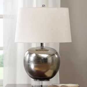 Mirrored Table Lamp   Wayfair Rondure Mirrored 25  Table Lamp