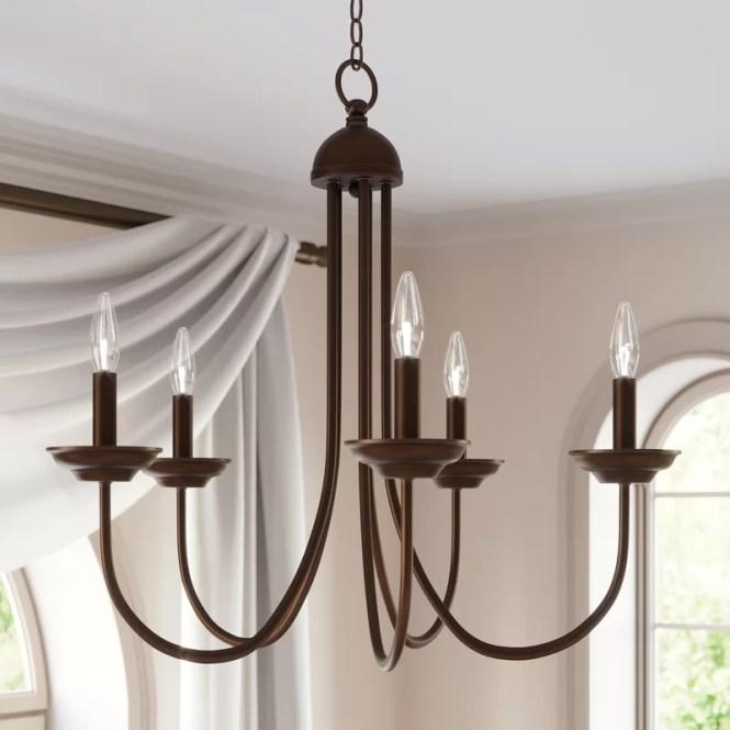 Charlton Home Bordelon 5 Light Candle Style Chandelier Reviews