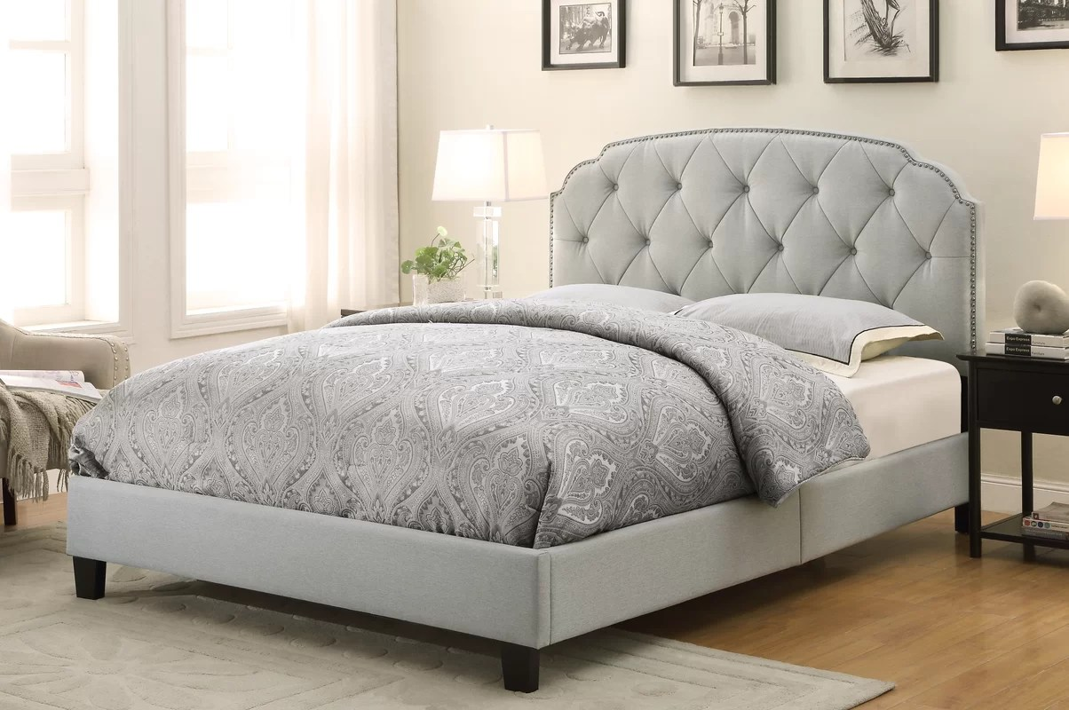 Andover Mills Anson Upholstered Panel Bed & Reviews
