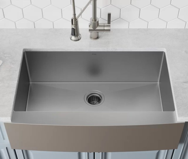 Khf L X 21 W Farmhouse Kitchen Sink With Drain Assembly