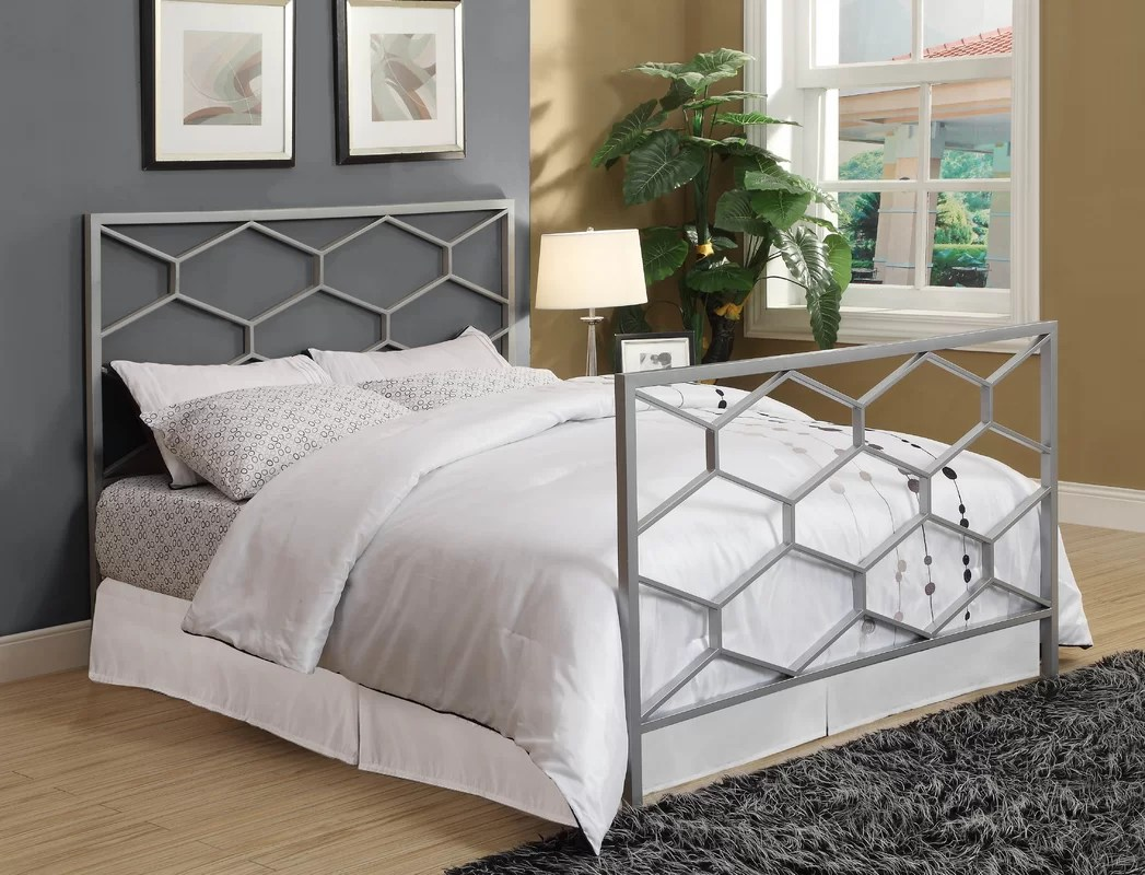 Monarch Specialties Inc. Open-Frame Headboard & Reviews