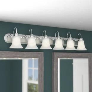 6 or More Light Bathroom Vanity Lighting You'll Love   Wayfair on Wayfair Bathroom Sconces id=78187