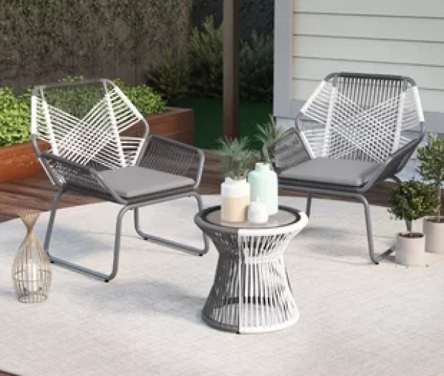 Lindholm Outdoor  Piece Rattan Seating Group With Cushions