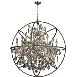 Bourke 1 Tier 13 Light Crystal Chandelier