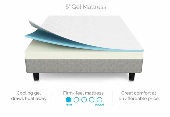 5 Firm Gel Memory Foam Mattress