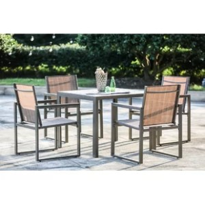 Four Person Patio Dining Sets You ll Love   Wayfair Darcie 5 Piece Dining Set