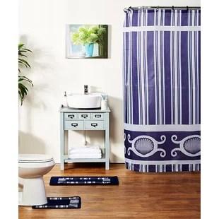 spa blue faux silk fabric shower