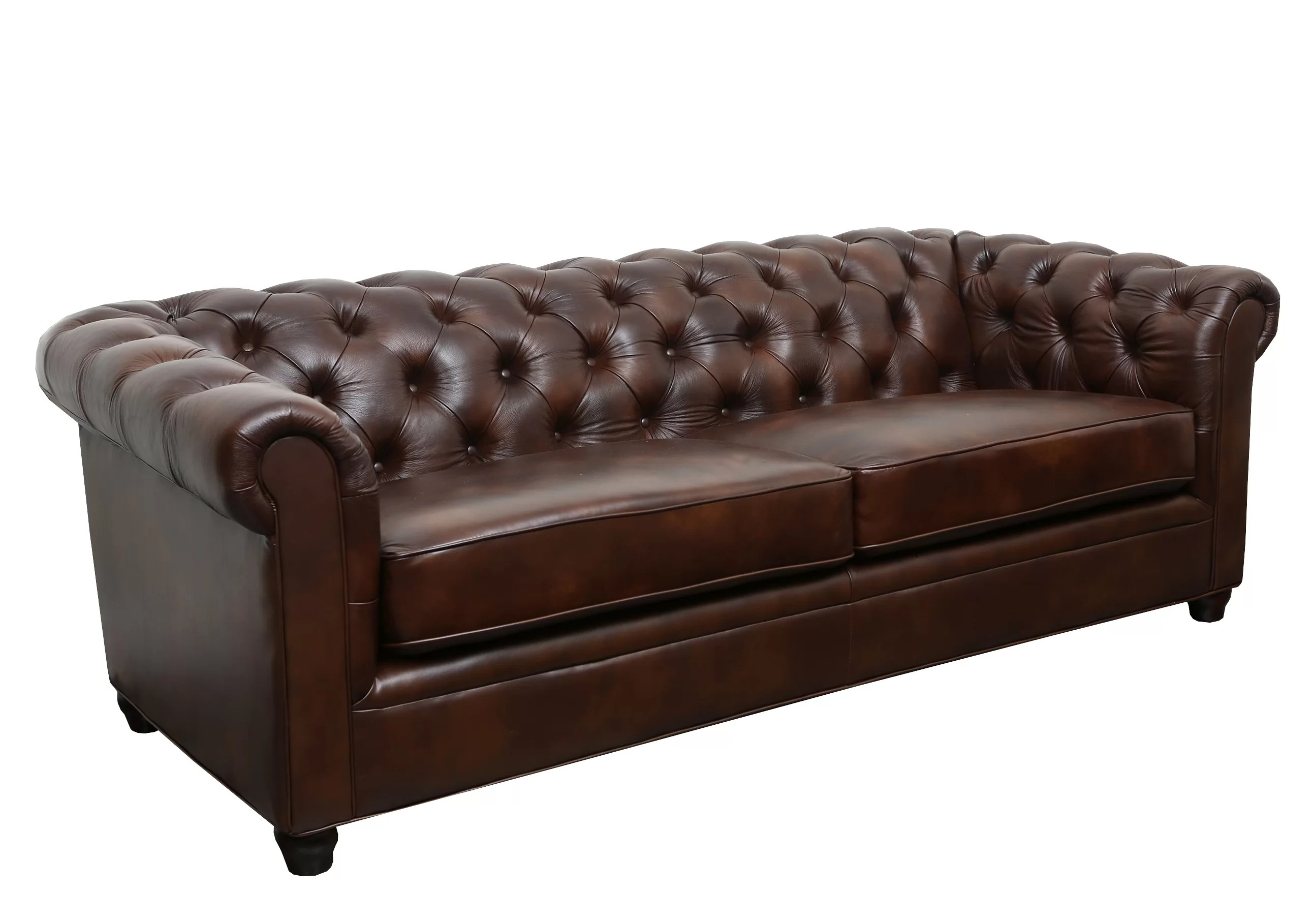 Trent Austin Design Harlem Leather Chesterfield Sofa   Reviews   Wayfair