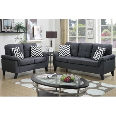 Grey Living Room Sets Youll Love Wayfair
