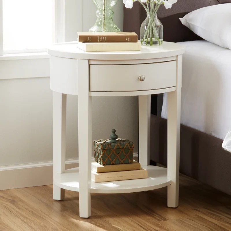 Three Posts Canterbury End Table With Storage Amp Reviews Wayfair