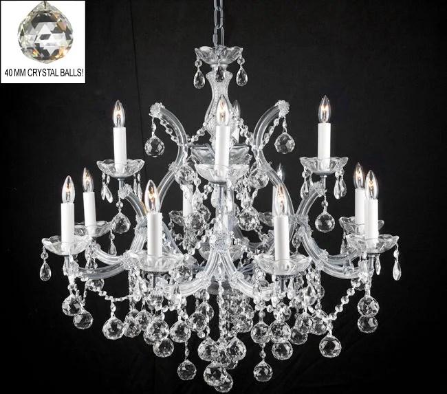 Alvarado 13 Light Silver Chain Crystal Chandelier
