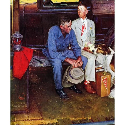Marmont Hill Breaking Home Ties By Norman Rockwell Painting Print On Wrapped Canvas Reviews Wayfair Ca