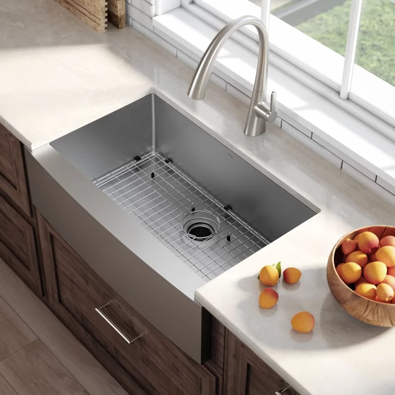 Kraus 33 X 21 Farmhouse Kitchen Sink With Drain Assembly
