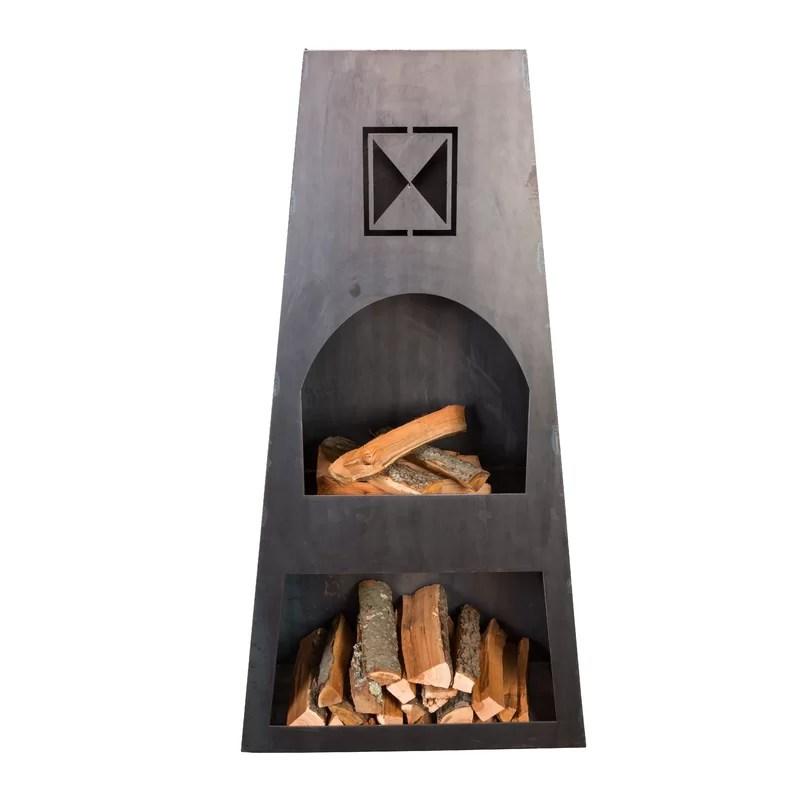 Ember Haus Fire Knight Steel Wood Burning Outdoor ... on Quillen Steel Outdoor Fireplace id=86964