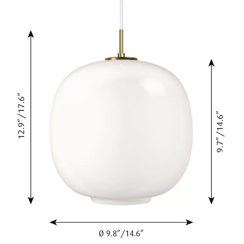 Cayden Led 1 Light Globe Pendant