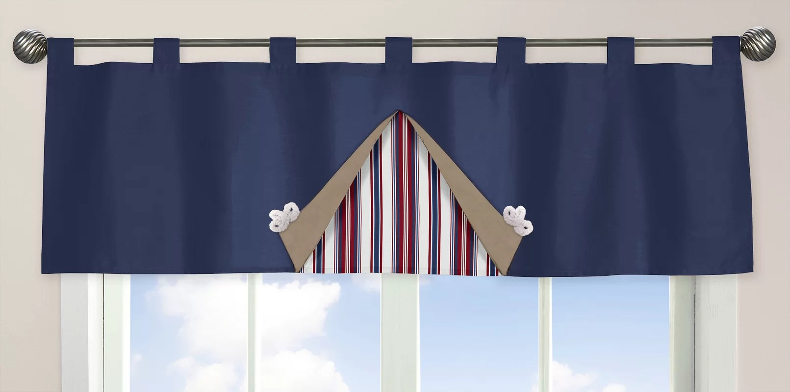 Sweet Jojo Designs Nautical Nights 54 Curtain Valance