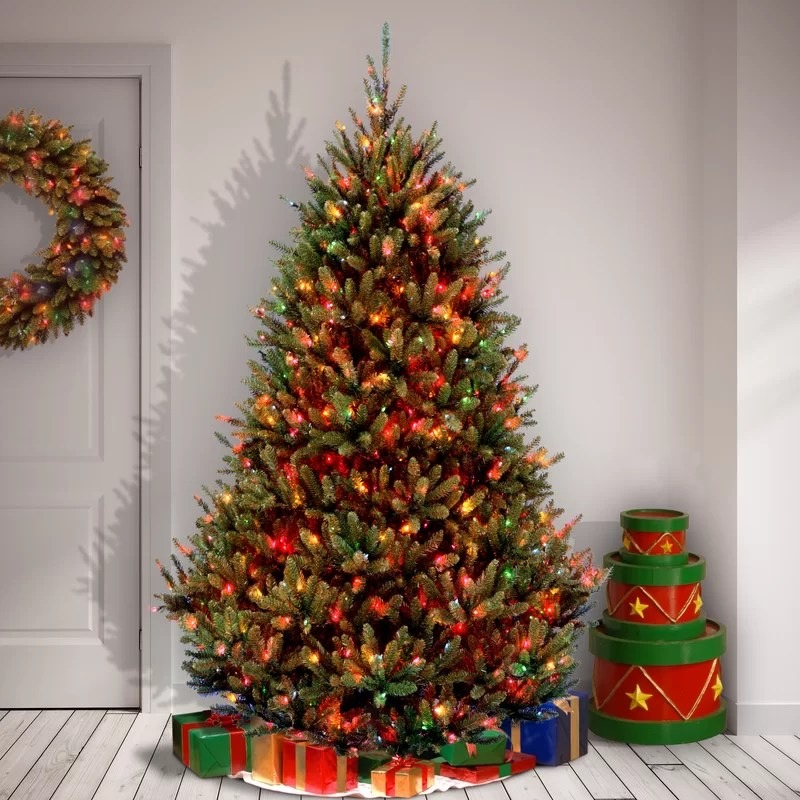 Multi color christmas tree decorations