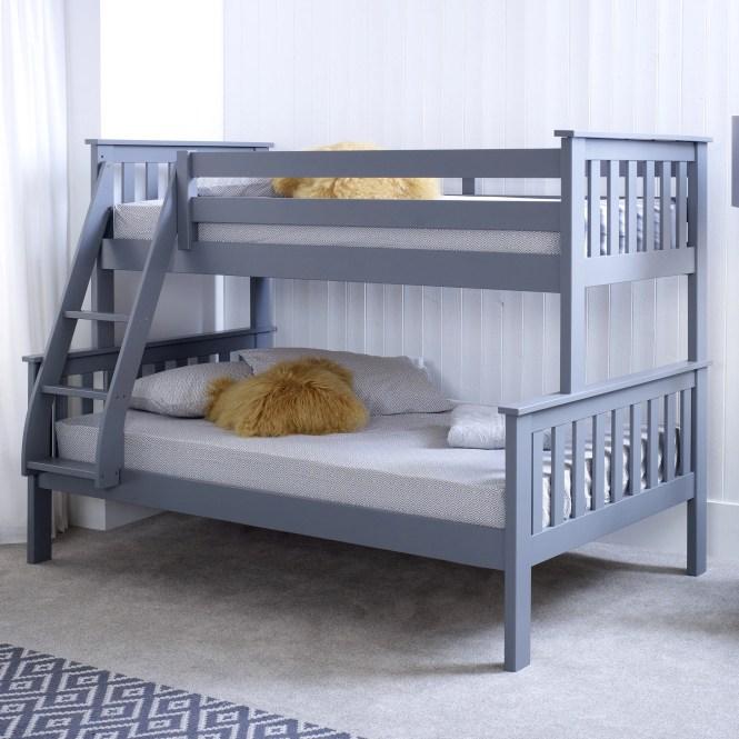 Viv Rae Aaron Triple Sleeper Bunk Bed With Mattress Reviews Wayfair Co Uk