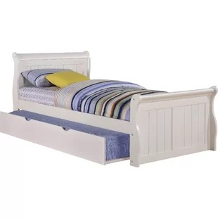 Sleigh Bed With Twin Trundle
