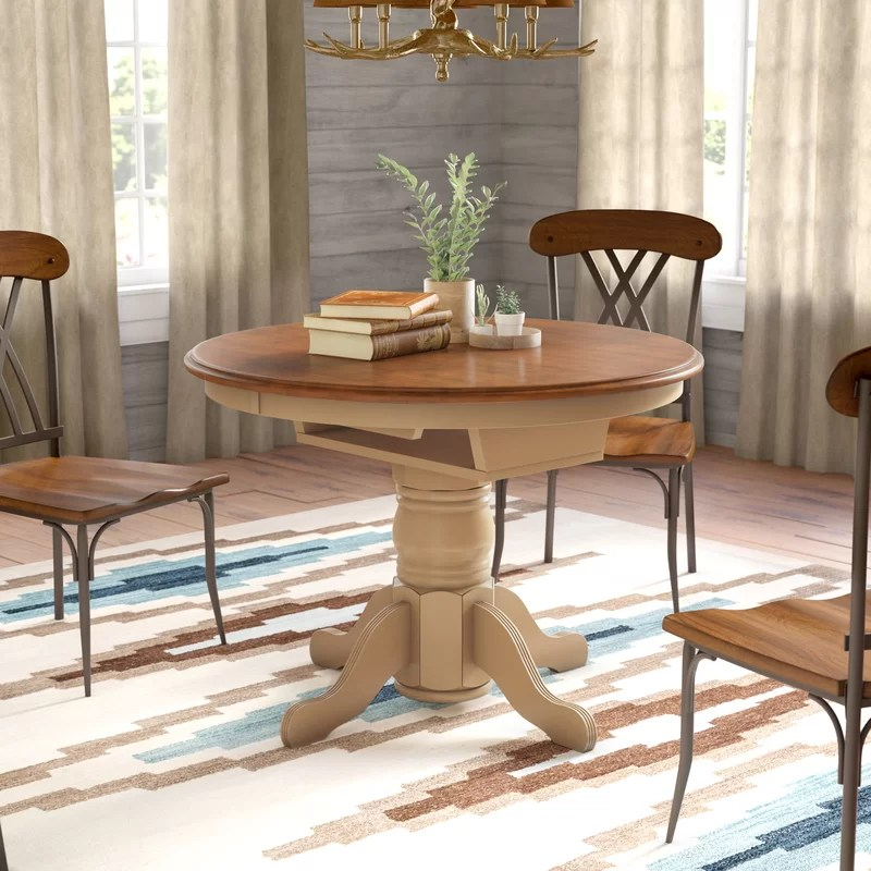 loon peak agrihan extendable solid wood dining table on solid wood dining table id=83270