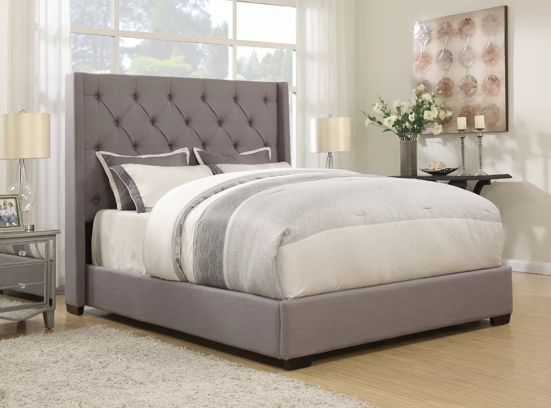 Lark Manor Fares Upholstered Bed & Reviews