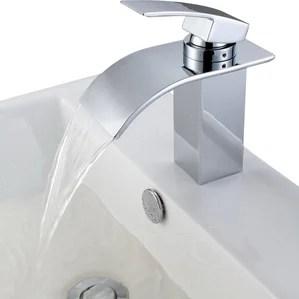 waterfall bathroom sink faucets you'll love | wayfair