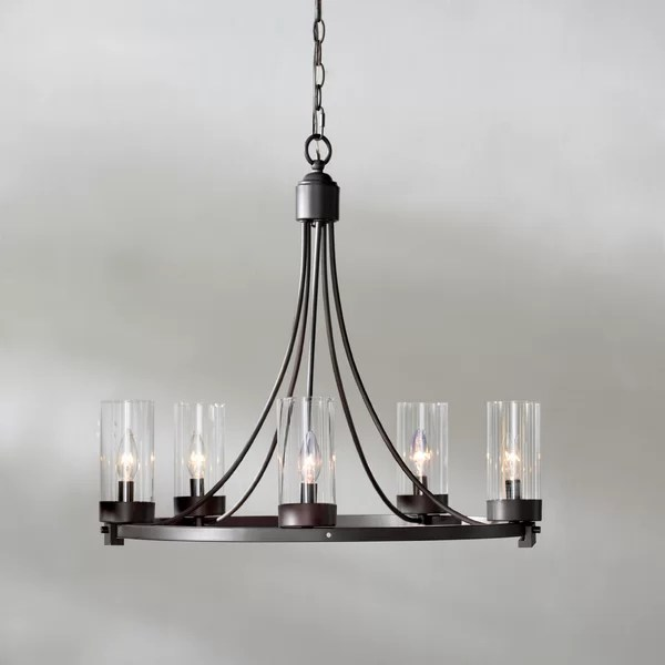 Laurel Foundry Modern Farmhouse Agave 5 Light Candle Style Chandelier Reviews Wayfair