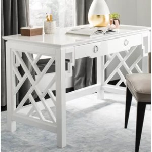 White Lacquer Desk   Wayfair Gosnells Lacquer Desk