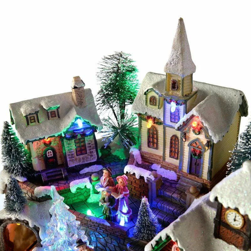 the seasonal aisle pre lit led musical animated christmas village - Animated Christmas Village