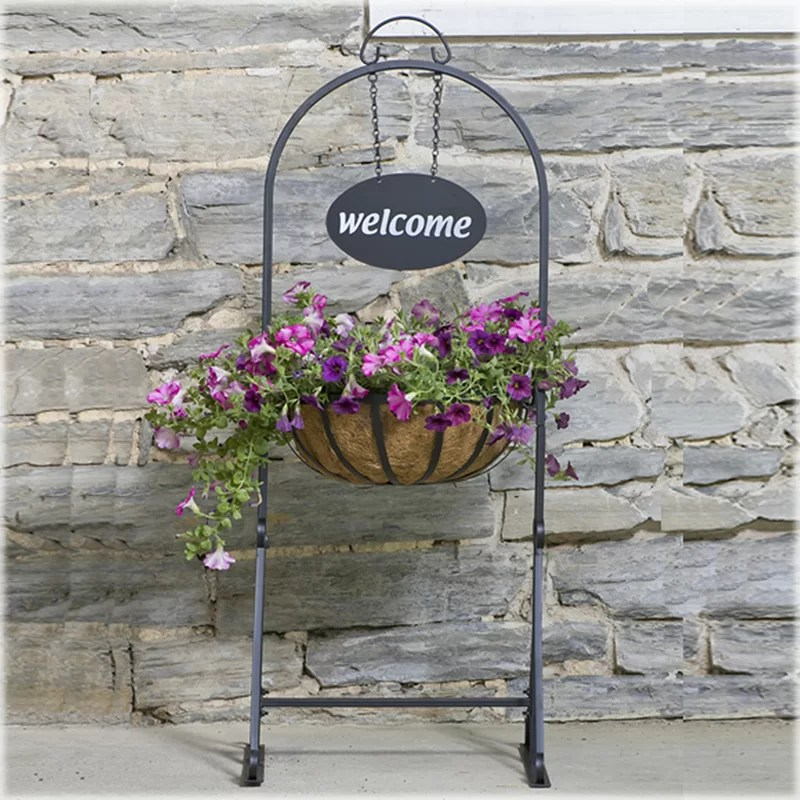 CobraCo Hanging Basket Plant Stand & Reviews   Wayfair on Stand For Hanging Plants  id=91854