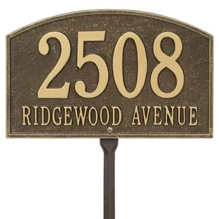 Address Plaques   Signs You ll Love   Wayfair Save
