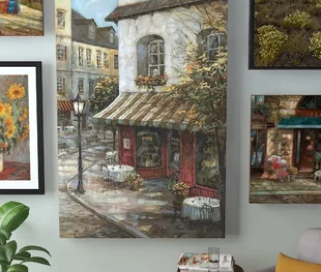 My Favorite Cafe Painting Print On Canvas