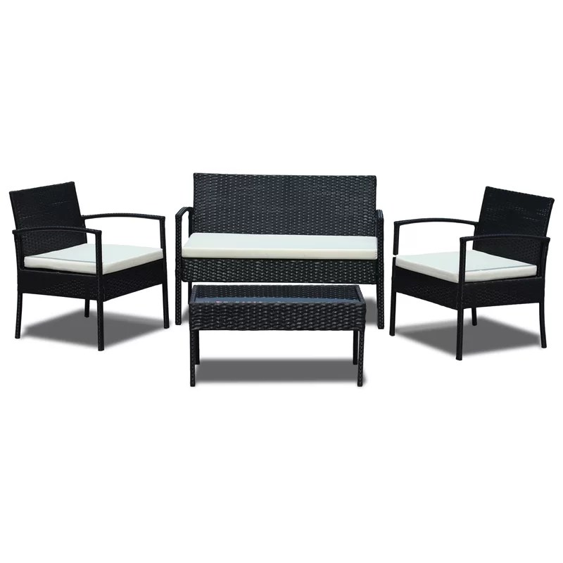 Rattan Sofa Set 4 Piece