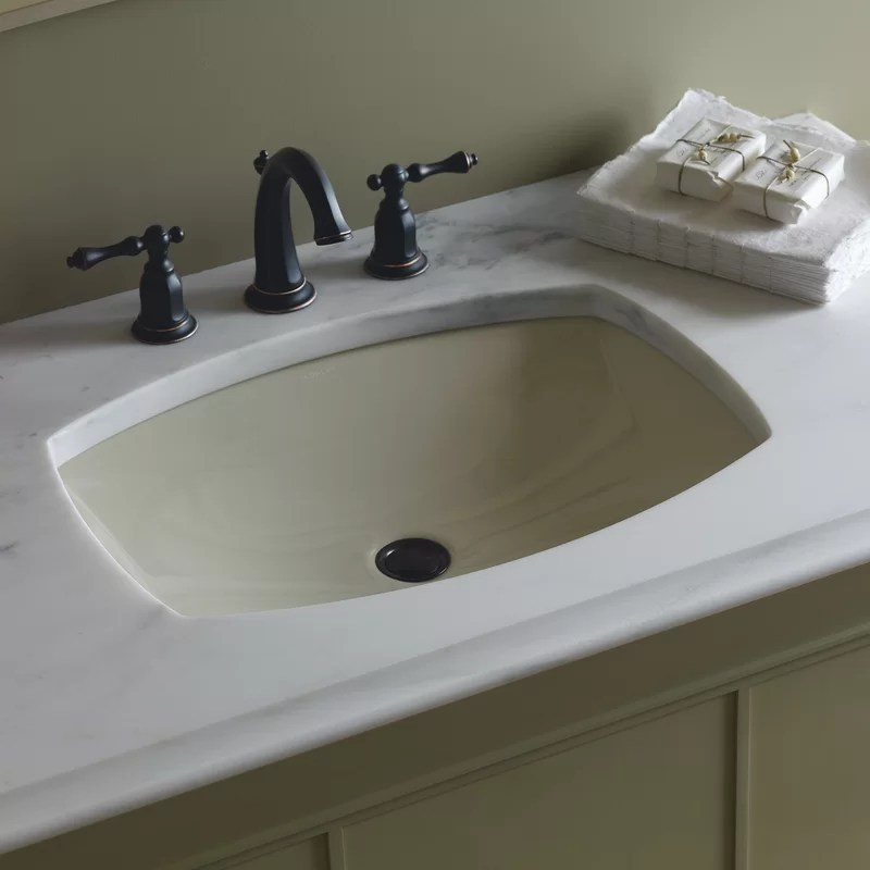 kohler kelston� ceramic rectangular undermount bathroom sink with