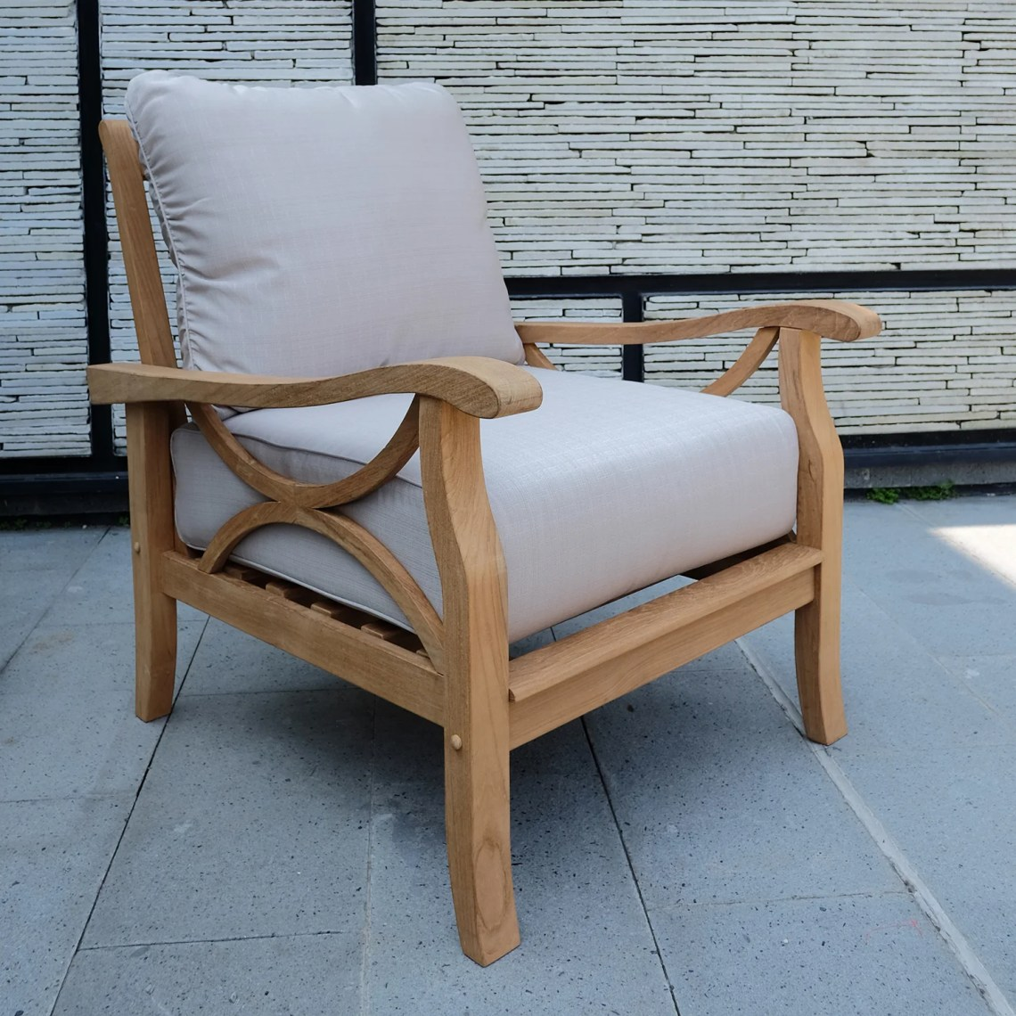 Birch Lane Heritage Brunswick Teak Patio Chair With Cushions Reviews Birch Lane