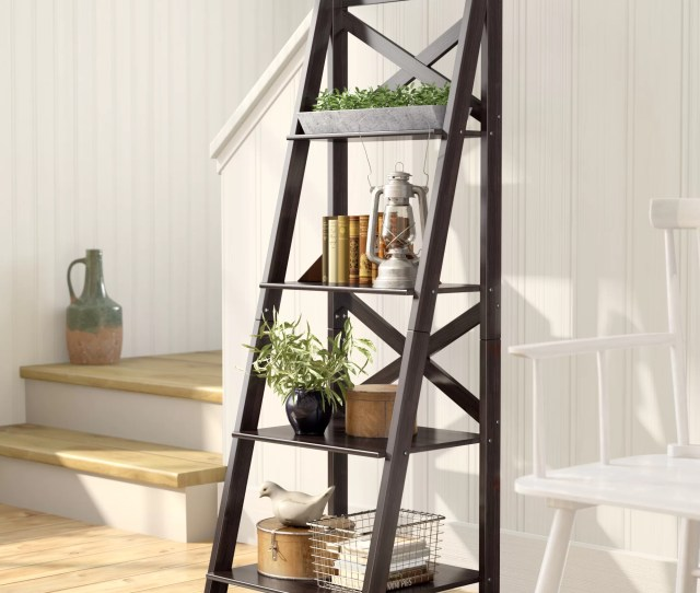 Laurel Foundry Modern Farmhouse Kaitlyn Ladder Bookcase Reviews Wayfair