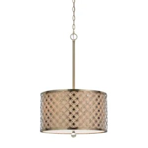 Drum Pendants You ll Love   Wayfair Duncan 3 Light Drum Pendant