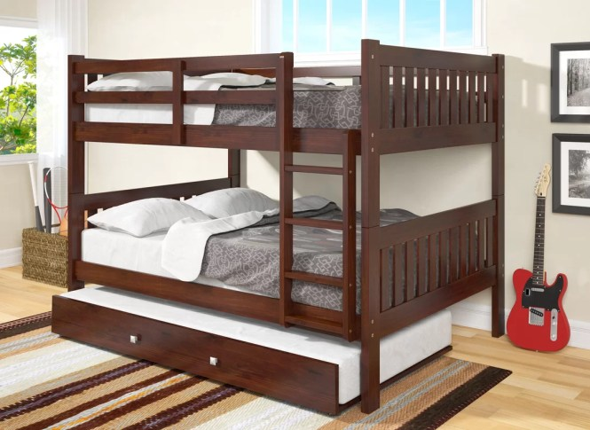 Full Over Bunk Bed With Trundle