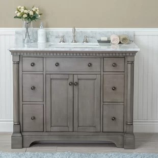 42 inch bathroom vanities you'll love | wayfair