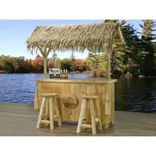 Tiki Bar Patio Bars & Sets You'll Love | Wayfair on Backyard Tiki Bar For Sale id=26375
