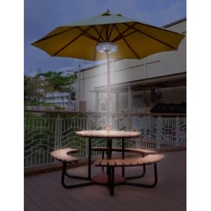 Patio Umbrella With Led Lights   Wayfair Patio Umbrella Light