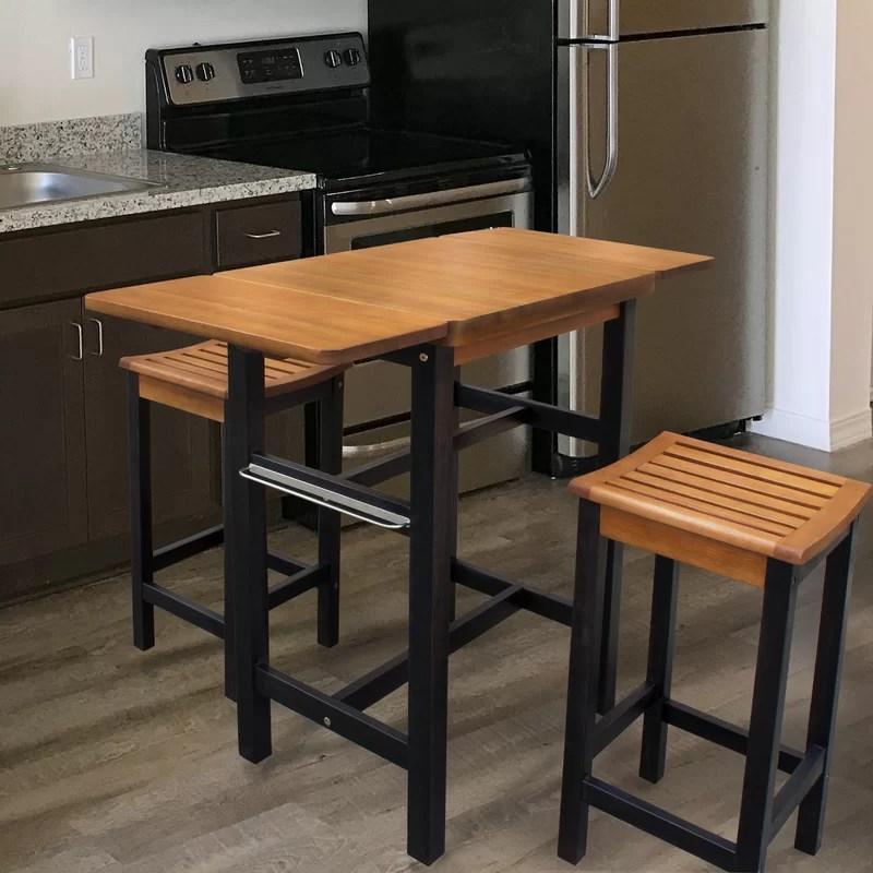 Red Barrel Studio Jeanetta 3 Piece Table Stool Kitchen Island Set Amp Reviews Wayfairca