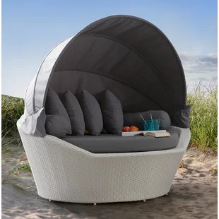 Rattan Garden Day Bed   Wayfair co uk 0  APR Financing