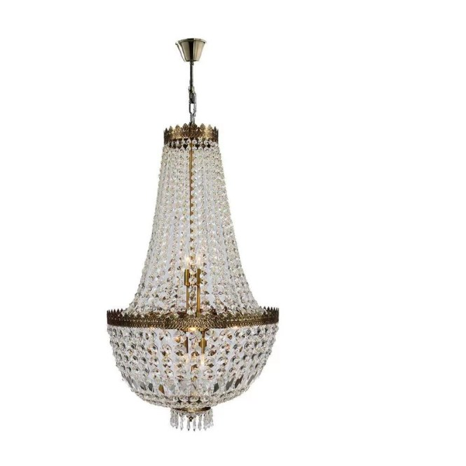 Brooks Bay 8 Light Chain Empire Chandelier