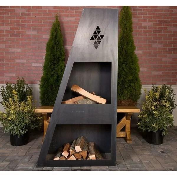 Ember Haus Sun King Steel Wood Burning Outdoor fireplace ... on Quillen Steel Outdoor Fireplace  id=40730