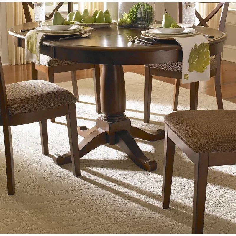 darby home co kiantone extendable solid wood dining table on solid wood dining table id=28027