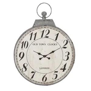 Waterproof Suction Glass Watch Wall Clock Bath Digital Bathroom Strong Decor Silver