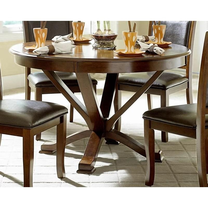 red barrel studio ryley round solid wood dining table on solid wood dining table id=87437