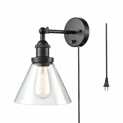 Non Hard Wired Wall Sconce | Wayfair on Non Wired Wall Sconces id=60462